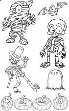 Unmounted rubber stamp Halloween Set - SA-6038