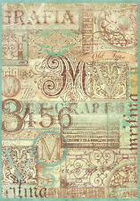 Ricepaper / Decoupage paper, Scrapbooking Sheets Calligraphy
