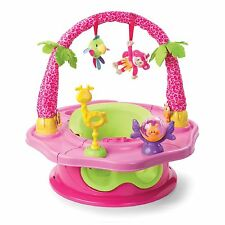 3 STAGE PINK BABY ACTIVITY CENTER BOOSTER CHAIR Toddler Girl Eat Snack Play NEW