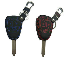 Real Leather Remote Key Case Shell Cover fit for JEEP Commander Grand Cherokee