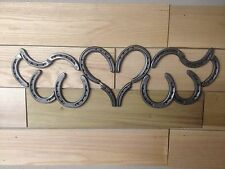 Heritage Forge - Iron Rustic Horseshoe Heart w/Wings