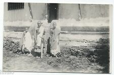 BM323 Carte Photo vintage card RPPC Indochine groupe type traditionnel sabre