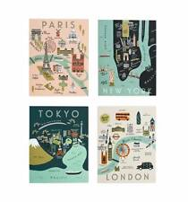 Rifle Paper Co.- City Maps Assorted Blank Cards - Tokyo, Paris, London, New York
