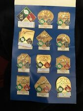 USA 1992 Olympic Pin Set Of Four Sport Fuji  Pole Vault Butterfly Relay Tack Bac