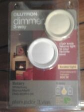 DIMMER SWITCH 3-Way 120/Volt 600 Watt Lutron White/Ivory Color. Brand New