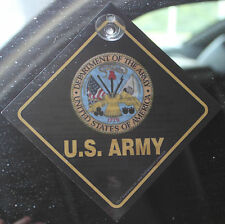 United States Army Auto Car Sign Suction Cup Made In The USA Military Solider