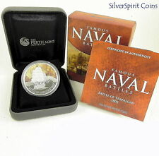 2011 FAMOUS NAVAL BATTLES BATTLE OF TRAFALGAR Silver Proof Coin