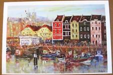 "Duaiv ""Afternoon at the Harbor"" Plate Signed Fine Art Lithograph French Scenic"