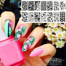 【BORN PRETTY】Nail Art Stamping Template Fleur Image plaque BP-L024