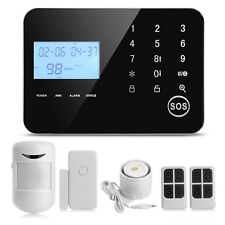 LCD Wireless GSM PSTN Home Burglar Alarm Security System Android IOS APP Control
