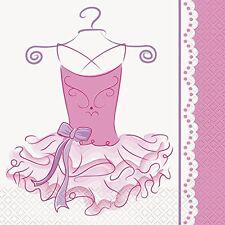 PINK BALLERINA LUNCH NAPKINS (16) ~ Birthday Party Supplies Serviettes Dinner