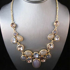 BID - NEW Urban Anthropologie Miragie Lavender Gold Rhinestone Necklace