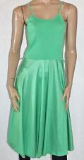 Retro 1970's FASHION GEAR OF MELBOURNE Green Polka Dot Singlet Summer Day Dress