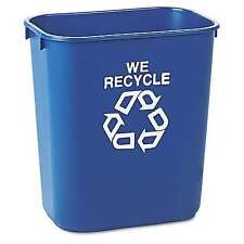 Rubbermaid Commercial Deskside Recycling Trash Garbage Can Blue - 13 5/8 qt.