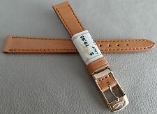 New ZRC Made in France Honey Calfskin 12mm Watch Band Gold Tone Buckle $19.95