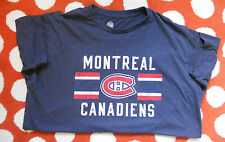 Officially Licensed NHL Montreal Canadiens Short Sleeve T Shirt Blue Hockey EUC