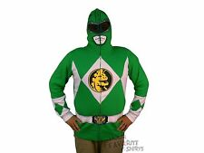 Power Rangers I Am Green Ranger Costume Licensed Zip Up Hoodie S-3XL