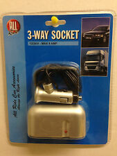 3 WAY DC 12V CAR CIGARETTE LIGHTER SOCKET SPLITTER PLUG CHARGER ADAPTER UK
