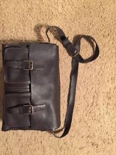 Vintage Gap Pebbled Leather Crossbody Messenger Bag/Shoulder Bag/Briefcase/Purse