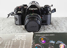 Canon A-1 w/50mm F1.4 Lens FD - Top of the Line 35mm Tested/Guaranteed!
