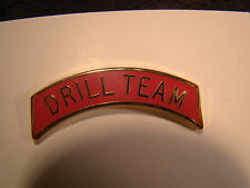 Drill Team Arch Pin Arc Tab Junior JROTC, ROTC, New Old Stock Red Gold Ver 2
