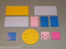 Lot de 10 plaques lisses LEGO belville / Bulk of Tiles ref  6177 6178 6180 6179