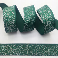 New 5 Yards 1Inch (25mm) Printed Grosgrain Ribbon Hair Bow DIY Sewing #072