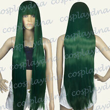 40 inch Hi_Temp Series Dark Green Face frame Long Cosplay DNA Wigs VLDGE
