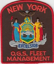 NEW YORK O.G.S. FLEET MANAGEMENT OFFICE OF GENERAL SERVICES POLICE PATCH NY