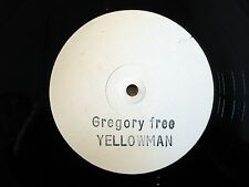 "Yellowman Gregory Free White Label A1 B1 ♫LISTEN♫ 12"" Hawkeye HD-52 EX/EX"