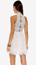 "FREE PEOPLE ""Verushka"" white Lace Mini Dress Sz.6 NWT $148"