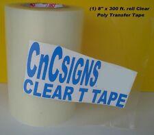 """8"""" x 300 ft. CLEAR APPLICATION TRANSFER Poli TAPE for Vinyl PLOTTER NEW 100 yds."""