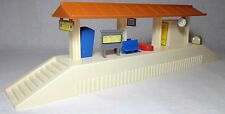 VTG 80's B/O 15'' TRAIN STATION DETAILED SET WITH SOUNDS WORKS UNUSED RARE