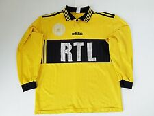 MAILLOT FOOTBALL PORTE WORN SHIRT ANCIEN VINTAGE COUPE DE FRANCE RTL ADIDAS N°4
