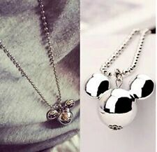 Silver Tone Mickey Mouse Disney Pendent Necklace Jewellery Xmas Cute Ladies