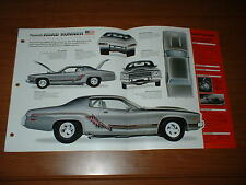 ★★1973 PLYMOUTH ROAD RUNNER SPEC SHEET BROCHURE POSTER PRINT PHOTO 73 CUSTOM★★