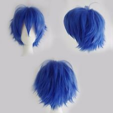 US Seller Short Costume Wigs Full Head Layered Hair Wig Lady Anime Cosplay Dress