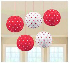 Valentine Mini Printed Paper Lantern ~ Happy Valentines Party Decoration Supply