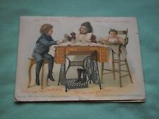 victorian trade card singer sewing machine 1899 ad woman children four page ad