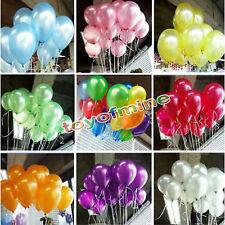 "100pcs 10"" Latex Ballon Helium Perle Luftballons Hochzeit Spielzeug deco"