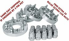 "5x4.5 To 5x5 Or 5x114.3 To 5x127 Bolt Pattern Conversion 1.25"" Wheel Adapters"