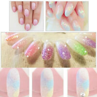 Women Mirror Acrylic Effect Glitter Nail Art Powder Dust Magic Glimmer Trend New