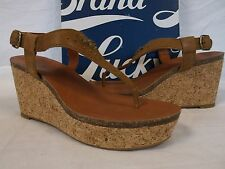 Lucky Brand Size 7.5 M Narnie Bombay Leather Sandals Wedges New Womens Shoes