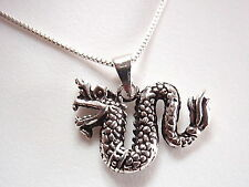 Dragon Necklace Chinese Style 925 Sterling Silver Corona Sun Jewelry