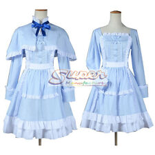 Another Mei Misaki LO Blue Dress Cloak Uniform COS Clothing Cosplay Costume