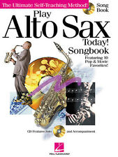 Play Alto Sax Today! Saxophone Songbook Sheet Music Hal Leonard Song Book CD NEW