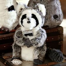 NEW Raccoon POTTERY BARN Faux Fur Rockin Plush Animal Speaker PB TEEN
