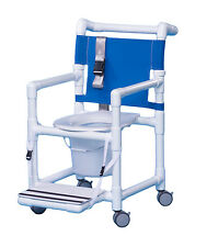 ECONOMY SHOWER CHAIR COMMODE w/FOOTREST and SEAT BELT ESC37 P