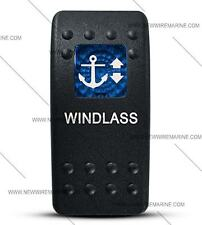 Labeled Contura II Rocker Switch Cover ONLY, Windlass (Blue Window)