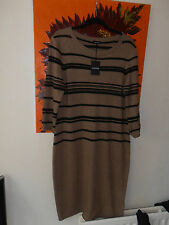BNWT Jaeger Knitted Dress Cashmere Mix Size Large Camel & Black RRP £199